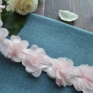 Шифоновый розовый цветочек