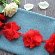 Шифоновый красный цветочек