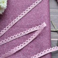 Кружево узкое розовое 9мм