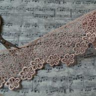 Кружево ажурное с цветами 60мм