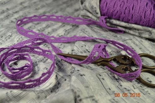 Кружево фиолетовое 12мм
