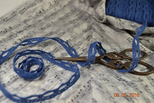 Кружево синее • M086