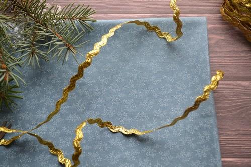 Кружево узкое золотая волна 8мм
