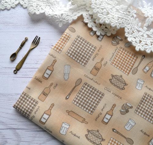 • Хлопковая ткань, Корея. Ширина ткани 110см.  Цена указана за 1 отрез 1 отрез – 35*45см