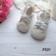 Туфельки с ушками для кукол белые 7*3,8см