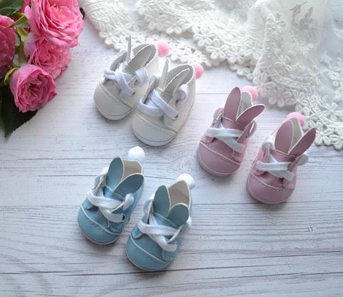 Туфельки с ушками для кукол белые 5*5 * 2,8 см • AK02 1