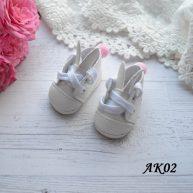 Туфельки с ушками для кукол белые 5*5 * 2,8 см