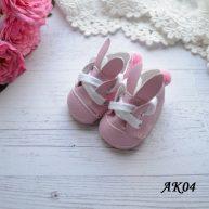 Туфельки с ушками для кукол розовые  5.5 * 2,8 см