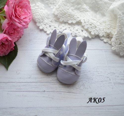 Туфельки с ушками для кукол фиолетовые 5,5 * 2,8 см • AK05