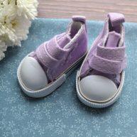 Кеды  для кукол фиолетовые 5*2,7см