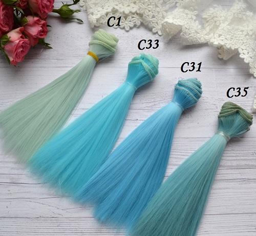 Волосы для кукол прямые C1 • VC1 1