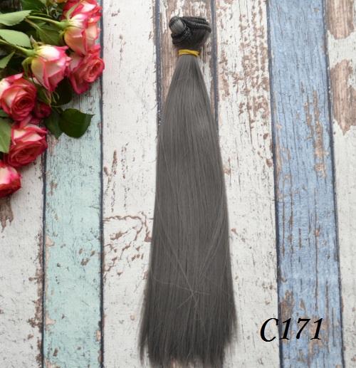 Искусственные волосы для кукол прямые C171