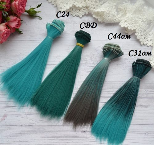 Волосы для кукол прямые C31ом • VC24 1
