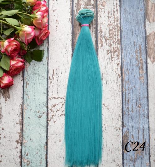 Волосы для кукол прямые C24 • VC24 25