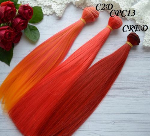 Волосы для кукол прямые CPC13 • VC2D 3