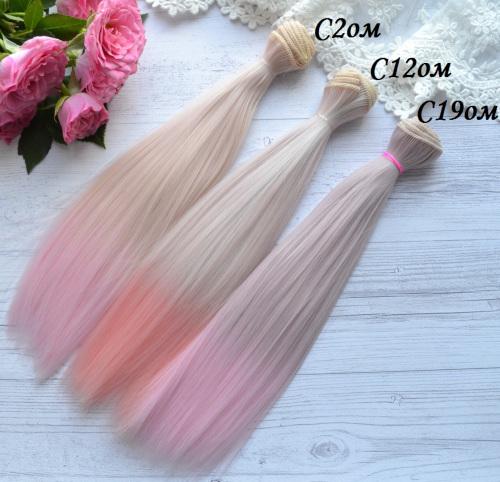 Волосы для кукол прямые C12ом • VC2om 3