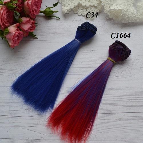 Волосы для кукол прямые C34 • VC34 1
