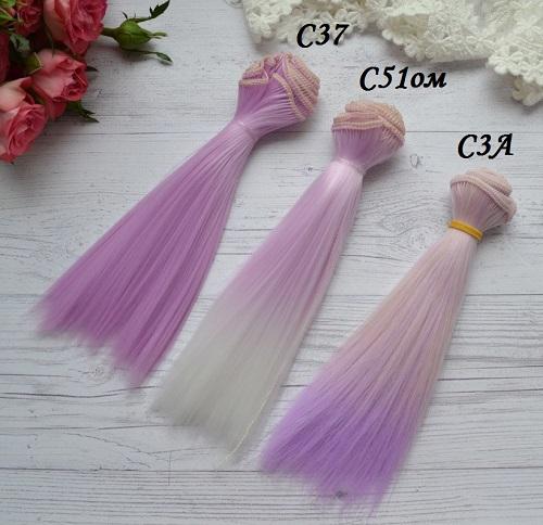 Волосы для кукол прямые C51ом • VC37 1