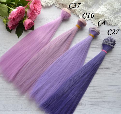 Волосы для кукол прямые C27 • VC37 3