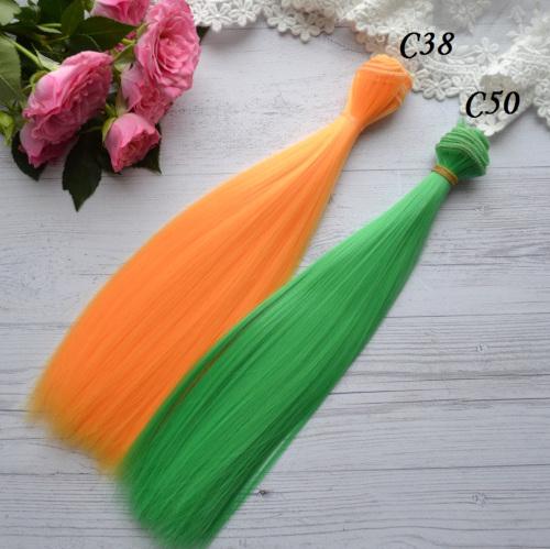 Волосы для кукол прямые C38 • VC38 3