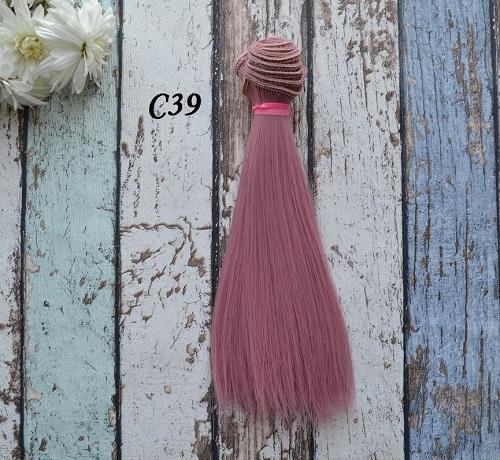 Волосы для кукол прямые C39 • VC39 15
