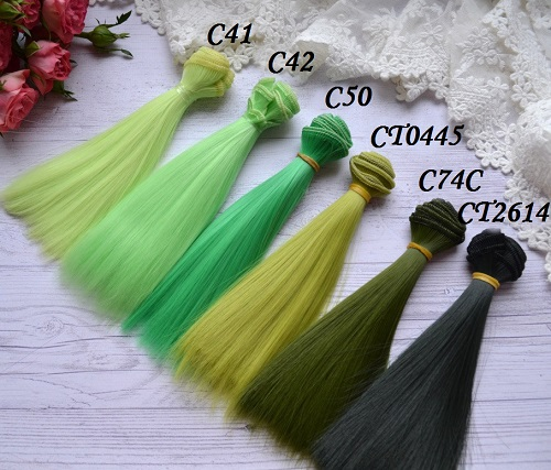 Волосы для кукол прямые C74C • VC41 1