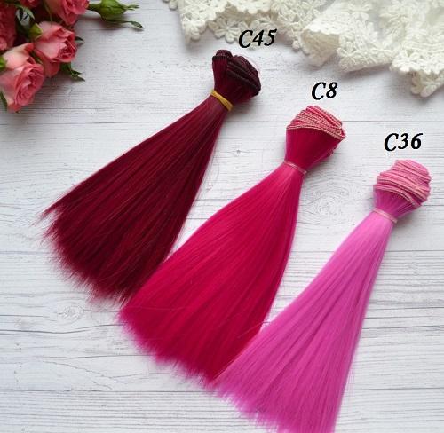 Волосы для кукол прямые C45 • VC45 1