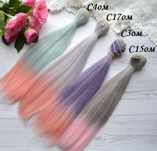 Волосы для кукол прямые C15om • VC4om 3