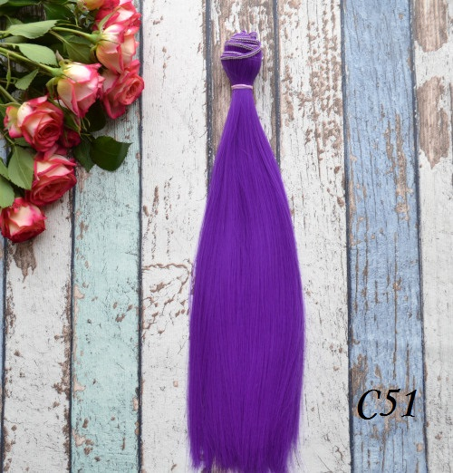 Волосы для кукол прямые C51ом