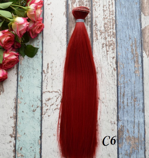 Волосы для кукол прямые C6 • VC6 25