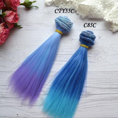 Волосы для кукол прямые CTY55C • VC85C 1