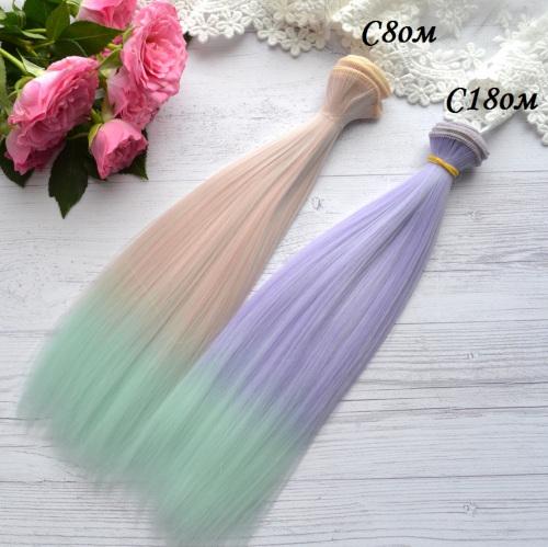 Волосы для кукол прямые C18ом • VC8om 3