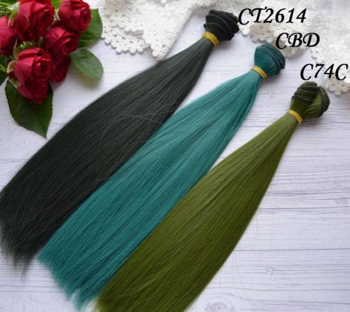 • Волосы для кукол. Цвет темно-зеленый, ближе к черному. Длина волос 25 см, ширина треса 1 метр. Цена указана за 1 метр.