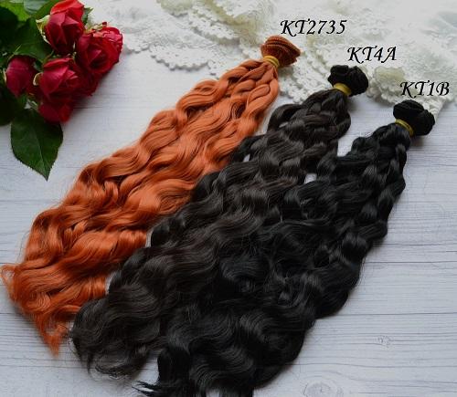 • Волосы для кукол.  Искусственные волосы для создания текстильных кукол, авторских кукол или для восстановления волос у Барби и Монстер Хай.  Длина волос 25см.  Ширина трессы 1м.  Цена указана за 1м.