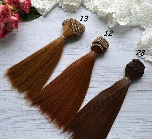 Волосы для кукол прямые N28 • VN13 1