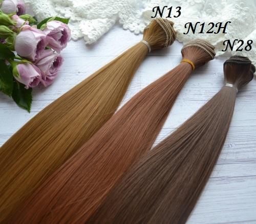 • <h5>Искусственные волосы для кукол</h5> Длина волос 25 см, ширина треса 1 метр. Цена указана за 1 метр.