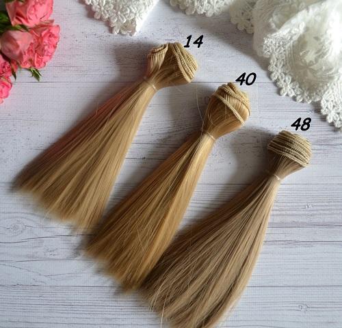 Волосы для кукол прямые N14 • VN14 1