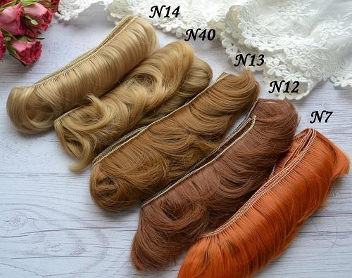 • Волосы для кукол. Длина волос 5 см, ширина треса 1 метр. Цена указана за 1 метр.