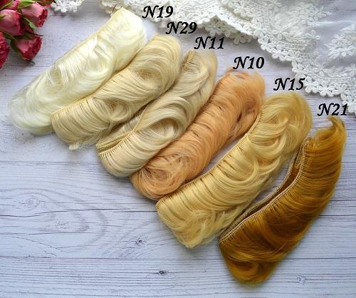 Волосы для кукол прямые N19 • VN19 2