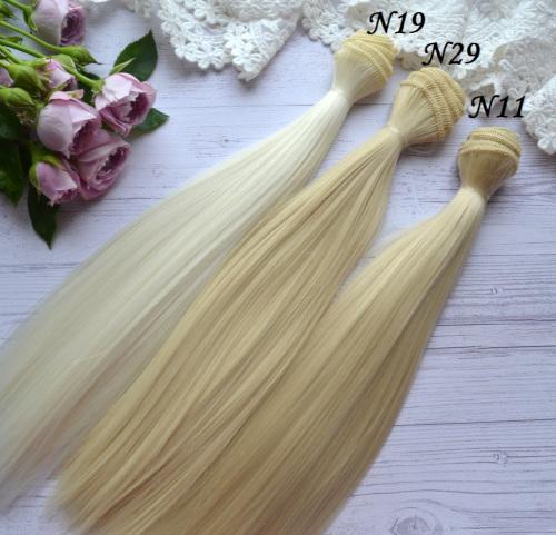Волосы для кукол прямые N88 • VN19 3