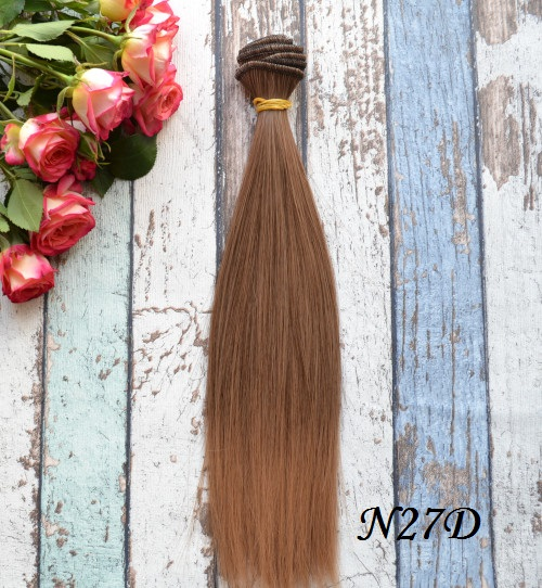 Волосы для кукол прямые N27D • VN27D 25