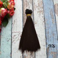 Волосы для кукол прямые N6