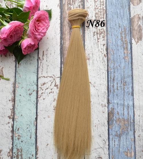 Волосы для кукол прямые N86 • VN86 25