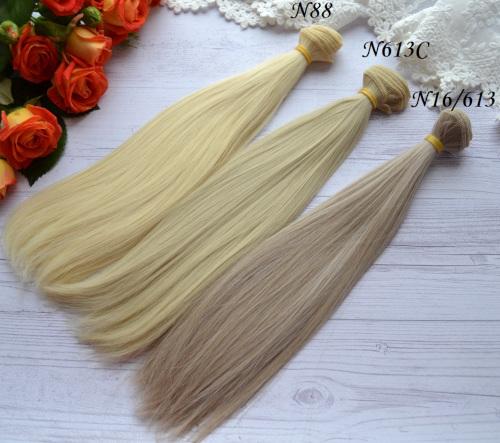 • Искусственные волосы для кукол.  Для создания текстильных кукол Тильда, Барби, Блайз и т.п.  Длина: 25см.  Тресса: 1м.  Цена указана за 1м.
