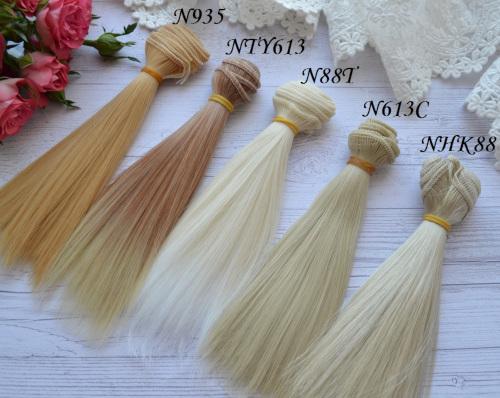 • Искусственные волосы для кукол.  Для текстильной куклы, для восстановления кукольных волос у Барби, Монстер Хай, Блайз и т.п.  Длина: 15см.  Ширина трессы 1м.  Цена указана за 1м.