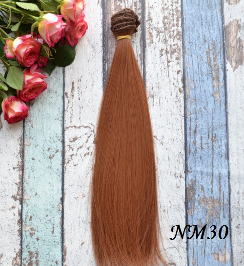 Волосы для кукол прямые NM30 • VNM30 25