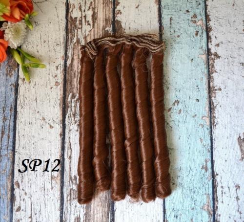 Волосы для кукол спиральки SP12 • VSP12