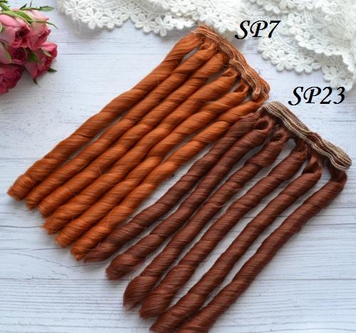 Волосы для кукол спиральки SP7 • VSP7 1