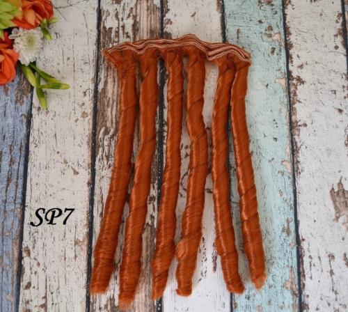 Волосы для кукол спиральки SP7 • VSP7