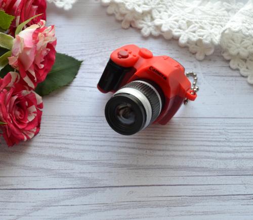 Мини фотоаппарат для куклы красный • AF04